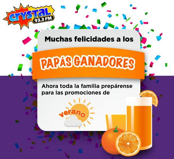 Muchas felicidades a los papás ganadores